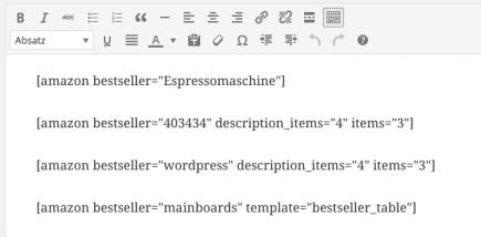 AAWP - Amazon Affiliate WordPress Plugin - Features - Bestseller Shortcodes