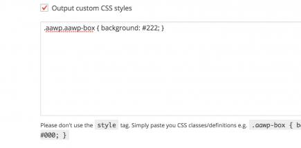 AAWP - Amazon Affiliate WordPress Plugin - Custom CSS