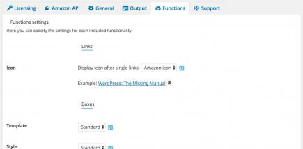 AAWP - Amazon Affiliate WordPress Plugin - Settings - Functions