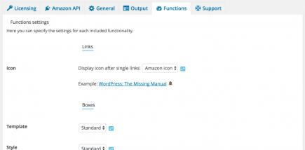 AAWP - Amazon Affiliate WordPress Plugin - Settings - Functions