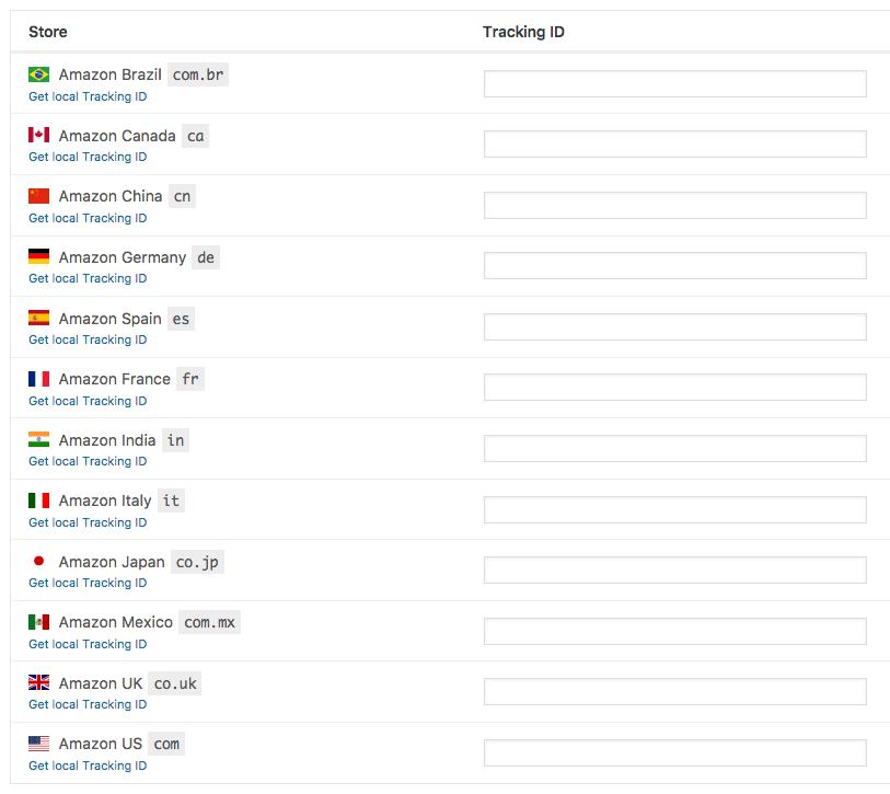 AAWP - Amazon Affiliate WordPress Plugin - Stores Settings