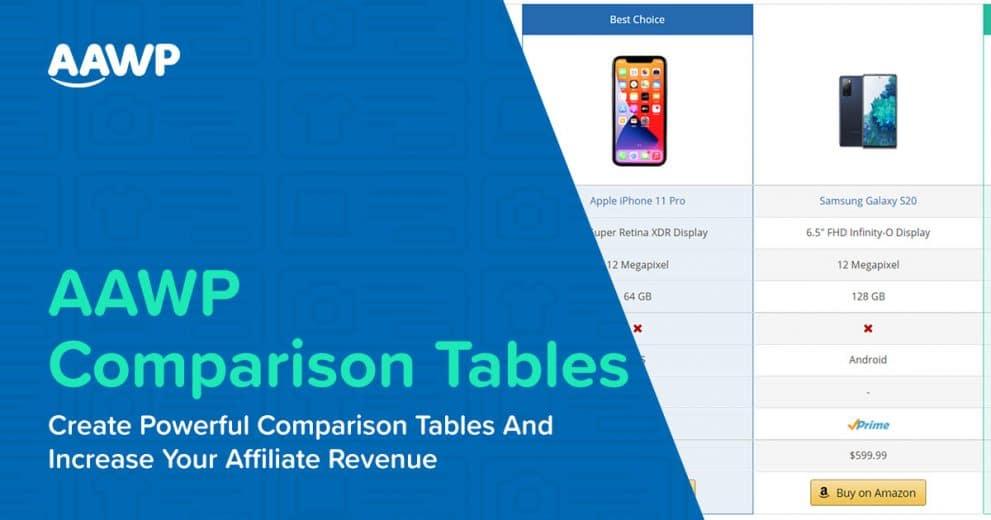 Create AAWP Comparison Tables & Increase Amazon Affiliate Revenue