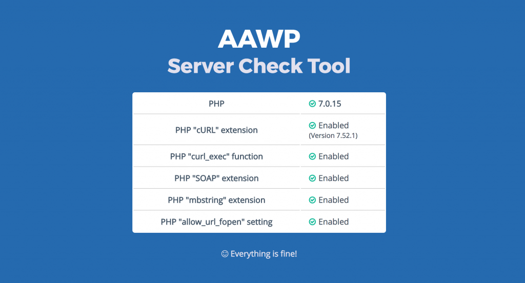 AAWP Server Check Tool